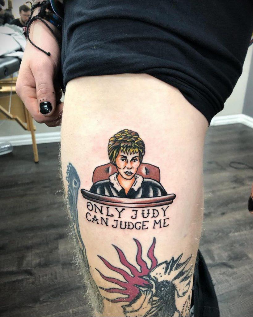 Татуировки с Судьей Джуди – фото для сайта tatufoto.com 2