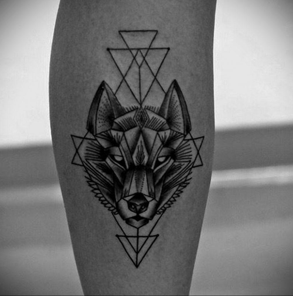 Фото геометрической тату с животным 12.03.2020 №002 -animal tattoos- tatufoto.com
