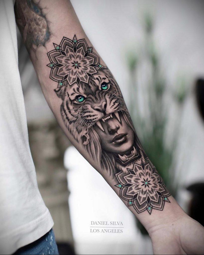 Фото примеры татуировок с тигром от 11.03.2020 – фото для tatufoto.com 2