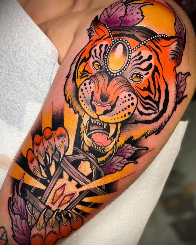 Фото примеры татуировок с тигром от 11.03.2020 – фото для tatufoto.com 5