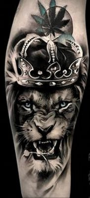 Фото пример рисунка тату оскал льва 05.02.2020 №009 -grin lion tattoo- tatufoto.com