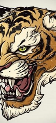 Фото рисунка тату оскал тигра 05.02.2020 №097 -tiger grin tattoo- tatufoto.com