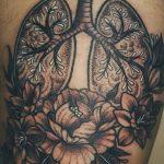 Фото татуировки с легкими человека 23.03.2020 №002 -lung tattoos- tatufoto.com