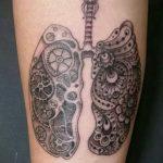 Фото татуировки с легкими человека 23.03.2020 №004 -lung tattoos- tatufoto.com