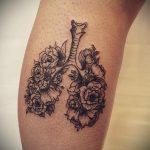 Фото татуировки с легкими человека 23.03.2020 №008 -lung tattoos- tatufoto.com
