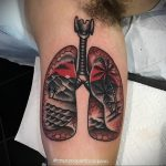 Фото татуировки с легкими человека 23.03.2020 №011 -lung tattoos- tatufoto.com