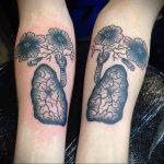 Фото татуировки с легкими человека 23.03.2020 №012 -lung tattoos- tatufoto.com