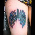 Фото татуировки с легкими человека 23.03.2020 №017 -lung tattoos- tatufoto.com