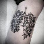 Фото татуировки с легкими человека 23.03.2020 №024 -lung tattoos- tatufoto.com