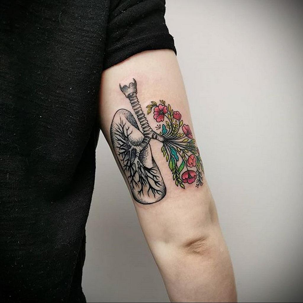 Фото татуировки с легкими человека 23.03.2020 №026 -lung tattoos- tatufoto.com