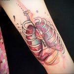 Фото татуировки с легкими человека 23.03.2020 №033 -lung tattoos- tatufoto.com