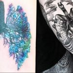 Фото татуировки с легкими человека 23.03.2020 №035 -lung tattoos- tatufoto.com
