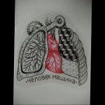 Фото татуировки с легкими человека 23.03.2020 №039 -lung tattoos- tatufoto.com