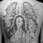 Фото татуировки с легкими человека 23.03.2020 №042 -lung tattoos- tatufoto.com