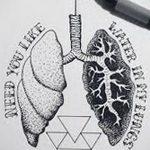 Фото татуировки с легкими человека 23.03.2020 №057 -lung tattoos- tatufoto.com