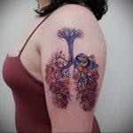 Фото татуировки с легкими человека 23.03.2020 №058 -lung tattoos- tatufoto.com