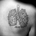 Фото татуировки с легкими человека 23.03.2020 №063 -lung tattoos- tatufoto.com