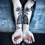 Фото татуировки с легкими человека 23.03.2020 №070 -lung tattoos- tatufoto.com