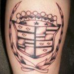 Фото татуировки с эмблемой 15.03.2020 №062 -tattoo emblem- tatufoto.com