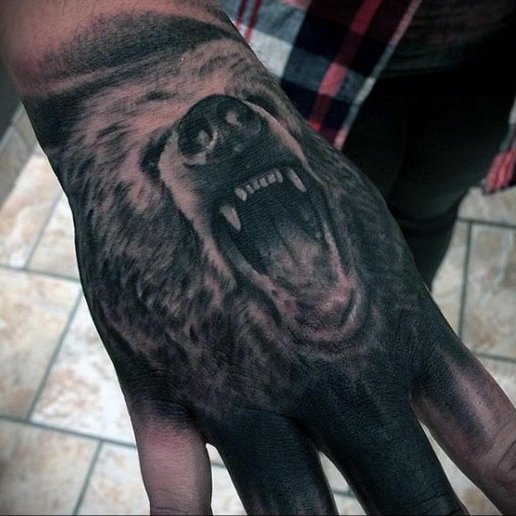 Фото тату мужской татуировки с животным 12.03.2020 №046 -animal tattoos- tatufoto.com