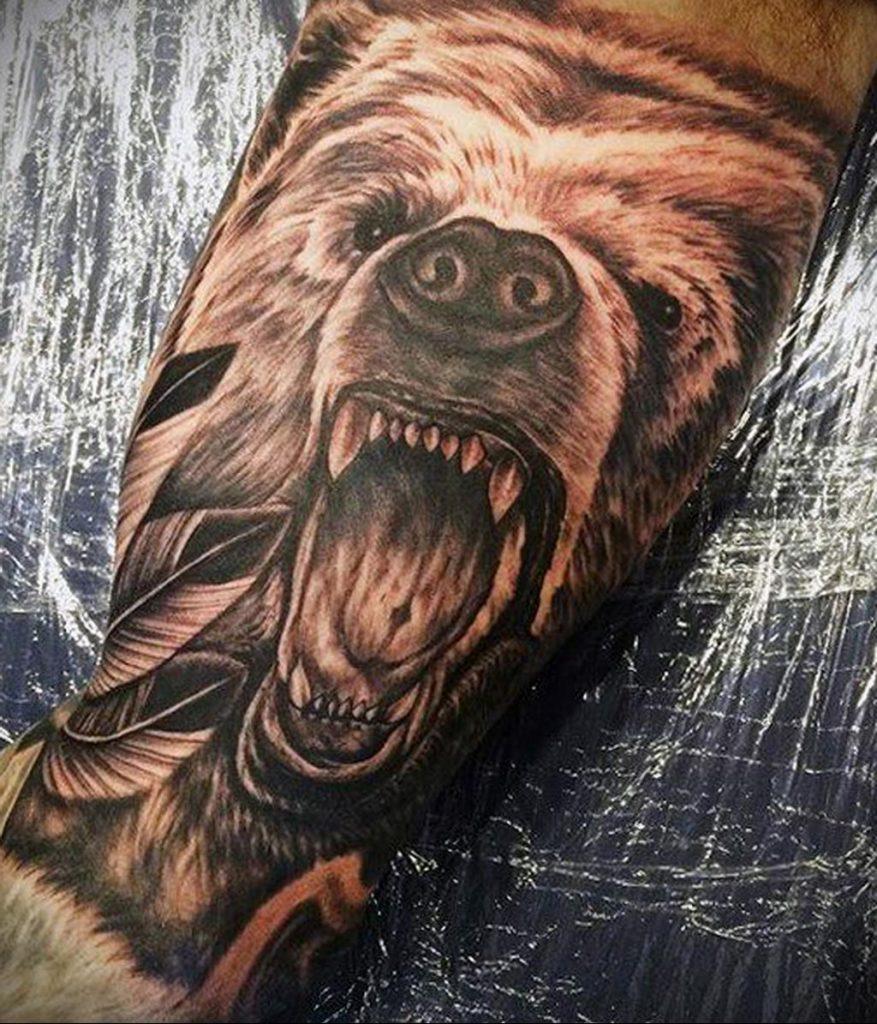 Фото тату мужской татуировки с животным 12.03.2020 №056 -animal tattoos- tatufoto.com