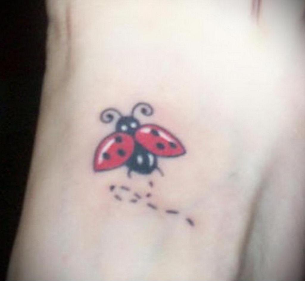 Фото тату про любовь рисунок Божья Коровка 03.02.2020 №123 -ladybug- tatufoto.com