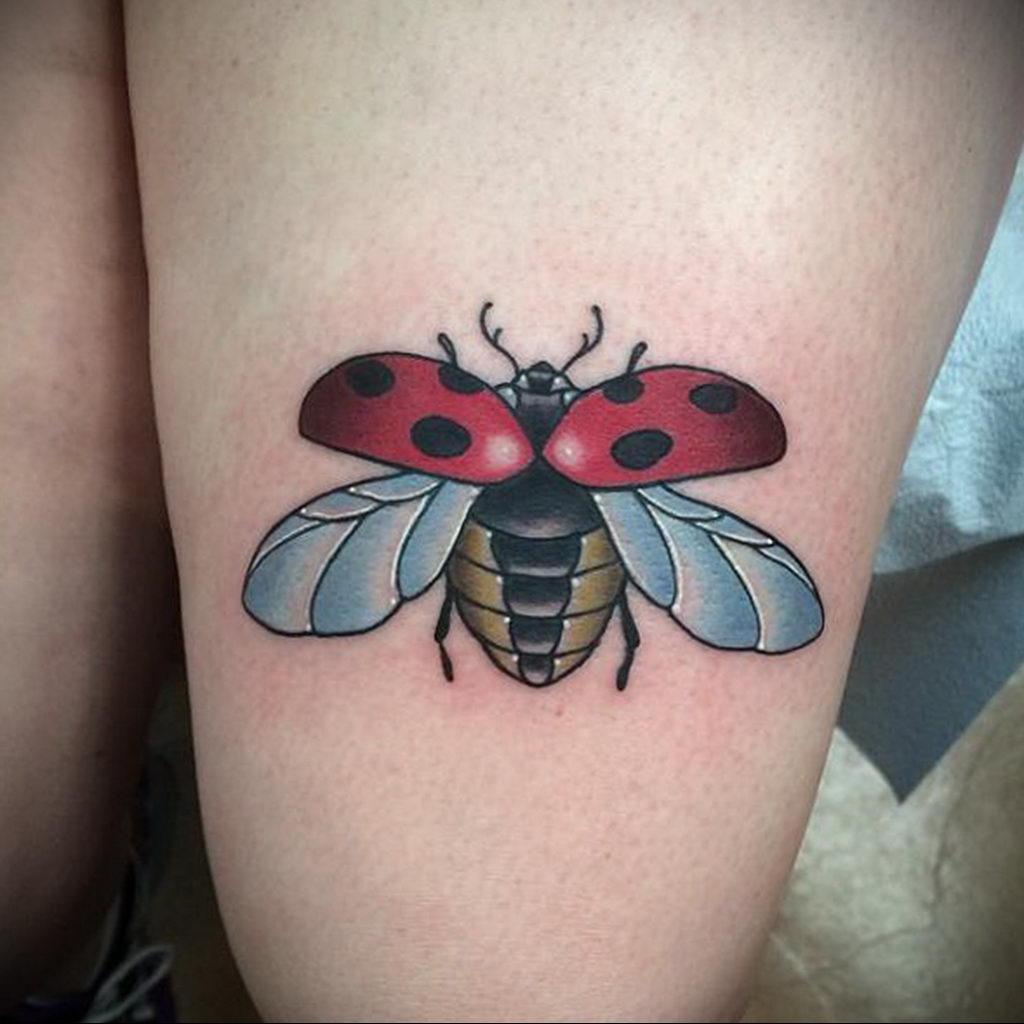 Фото тату про любовь рисунок Божья Коровка 03.02.2020 №125 -ladybug- tatufoto.com