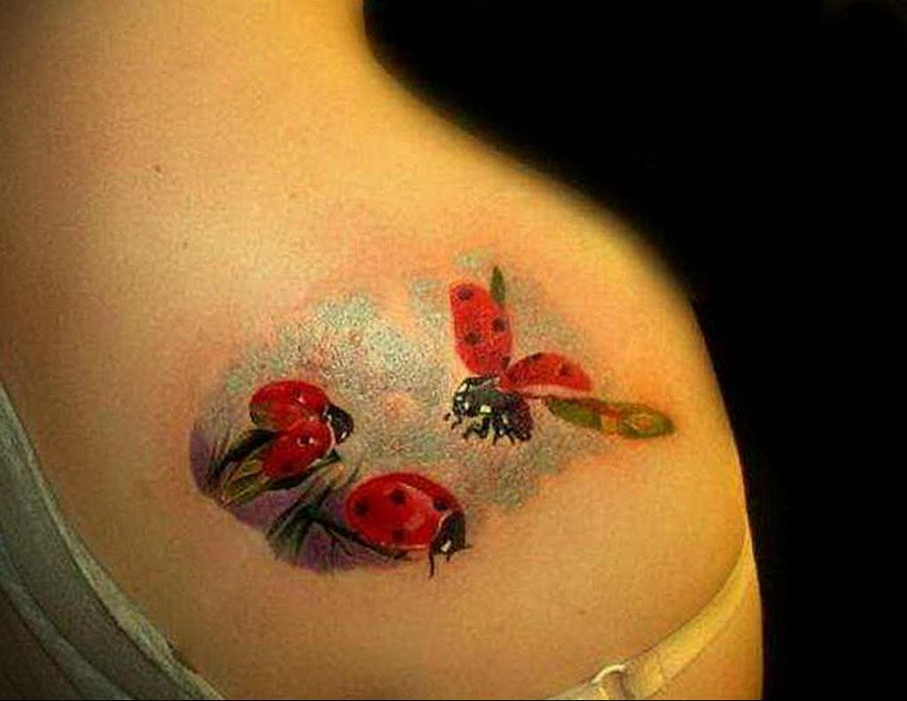 Фото тату про любовь рисунок Божья Коровка 03.02.2020 №182 -ladybug- tatufoto.com