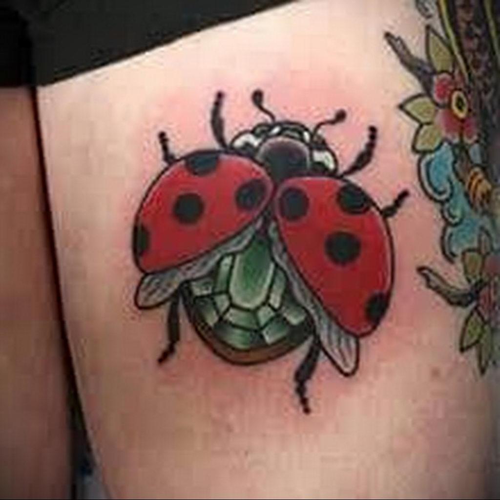 Фото тату про любовь рисунок Божья Коровка 03.02.2020 №190 -ladybug- tatufoto.com