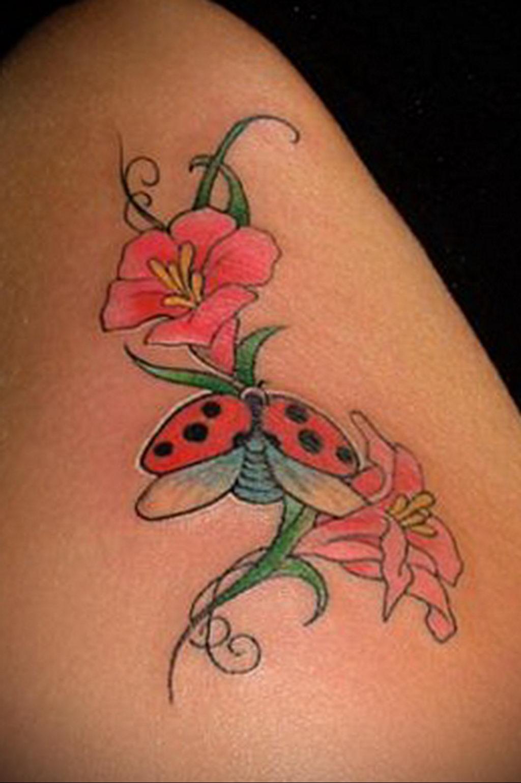 Фото тату про любовь рисунок Божья Коровка 03.02.2020 №202 -ladybug- tatufoto.com