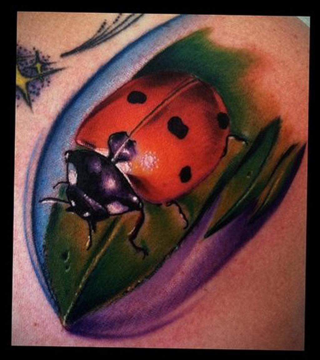 Фото тату про любовь рисунок Божья Коровка 03.02.2020 №217 -ladybug- tatufoto.com
