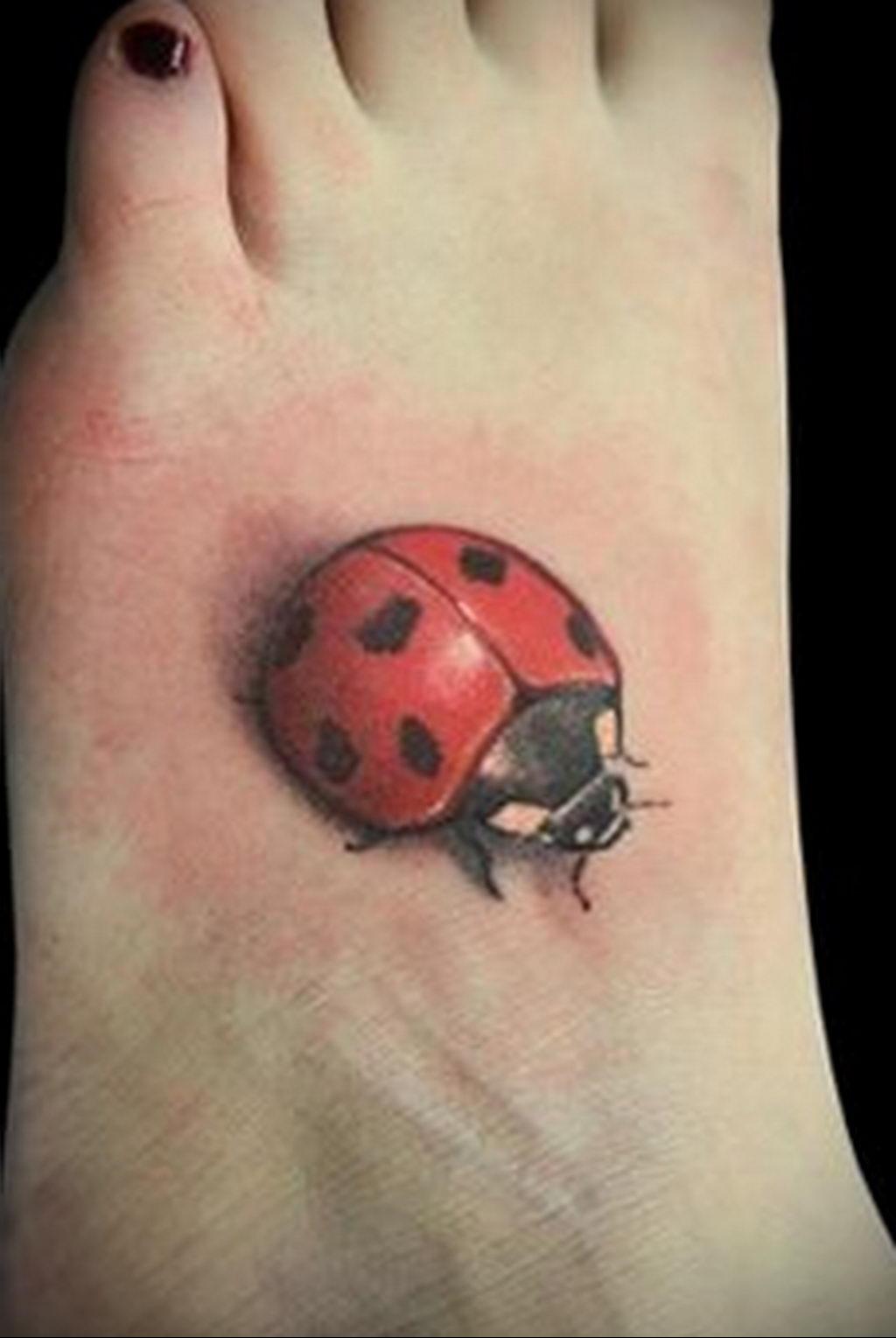 Фото тату про любовь рисунок Божья Коровка 03.02.2020 №224 -ladybug- tatufoto.com