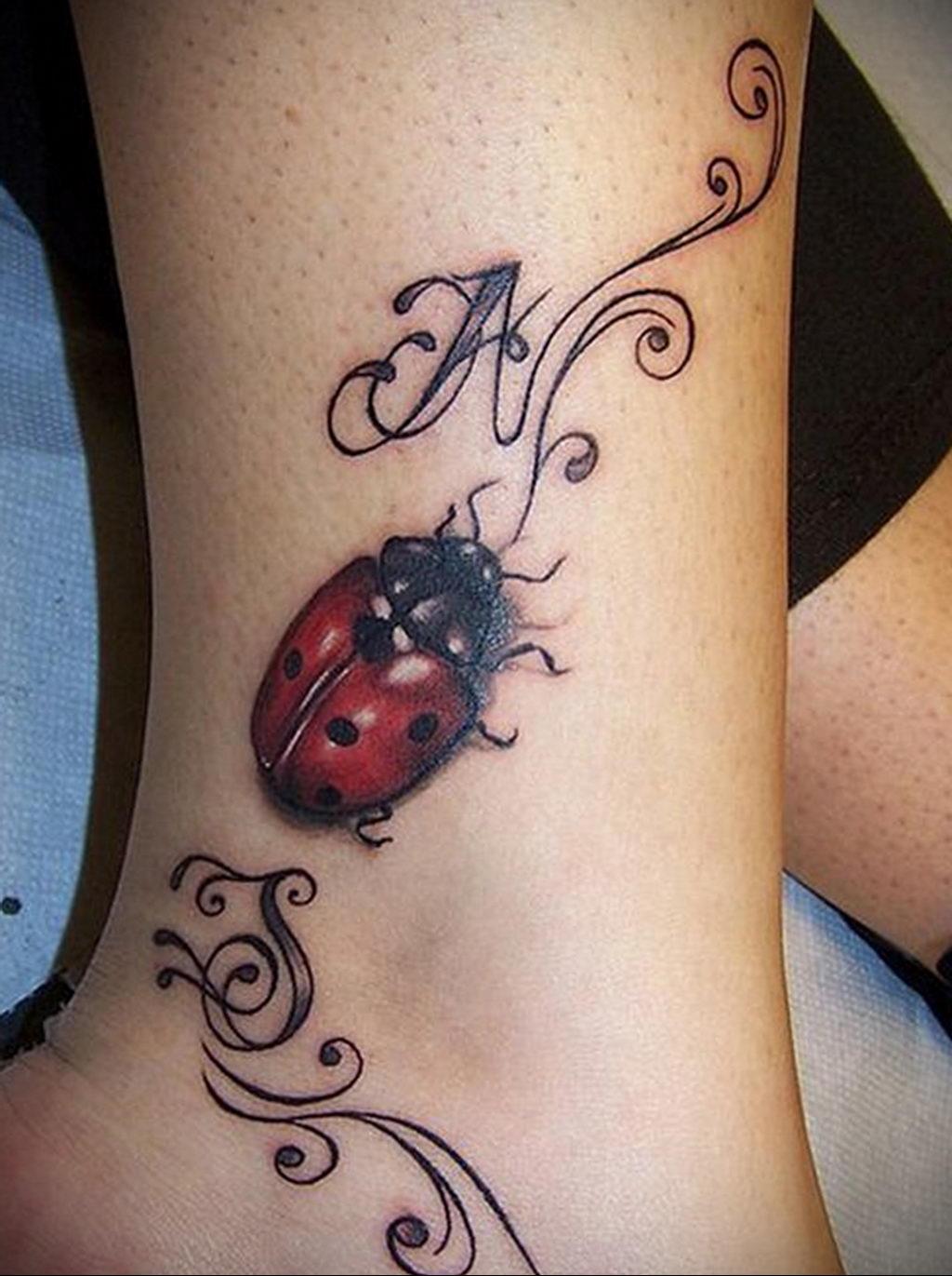 Фото тату про любовь рисунок Божья Коровка 03.02.2020 №229 -ladybug- tatufoto.com