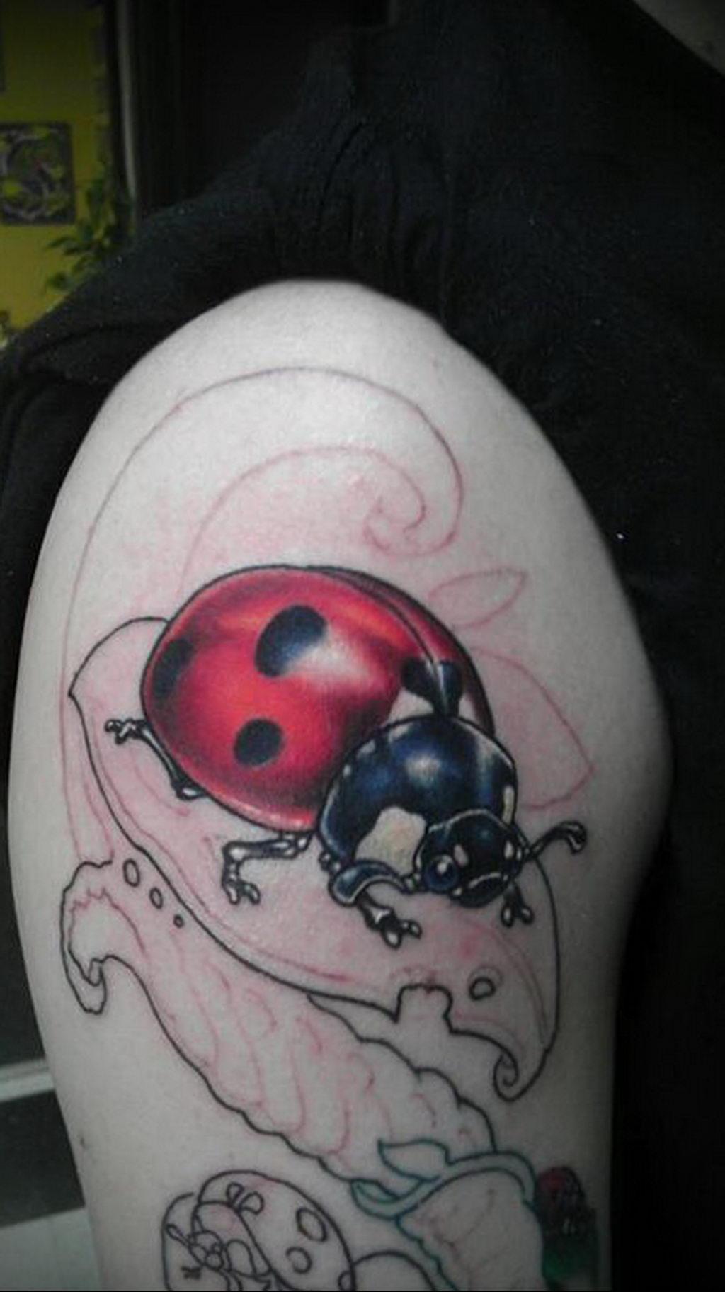 Фото тату про любовь рисунок Божья Коровка 03.02.2020 №233 -ladybug- tatufoto.com