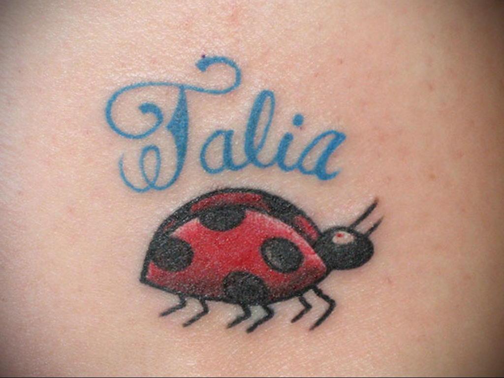 Фото тату про любовь рисунок Божья Коровка 03.02.2020 №252 -ladybug- tatufoto.com