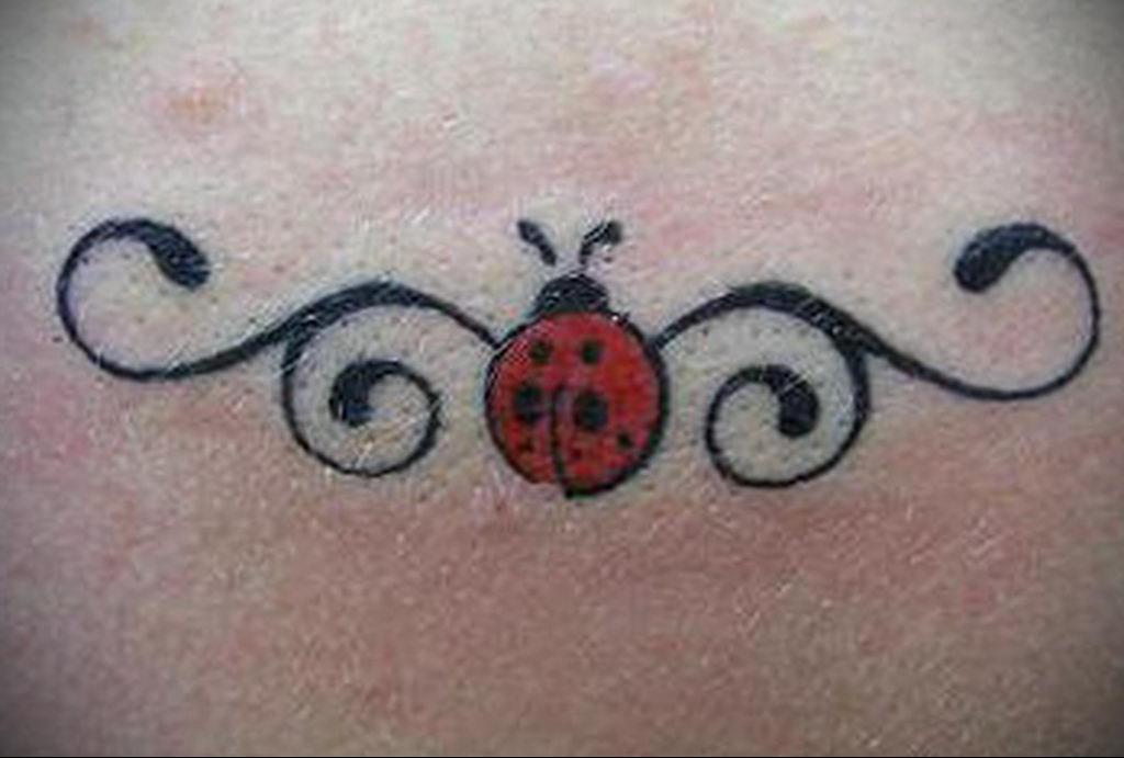 Фото тату про любовь рисунок Божья Коровка 03.02.2020 №255 -ladybug- tatufoto.com