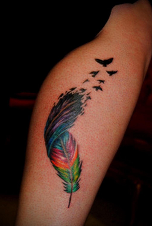Фото тату про любовь рисунок Перо 03.02.2020 №077 -tattoo feather- tatufoto.com