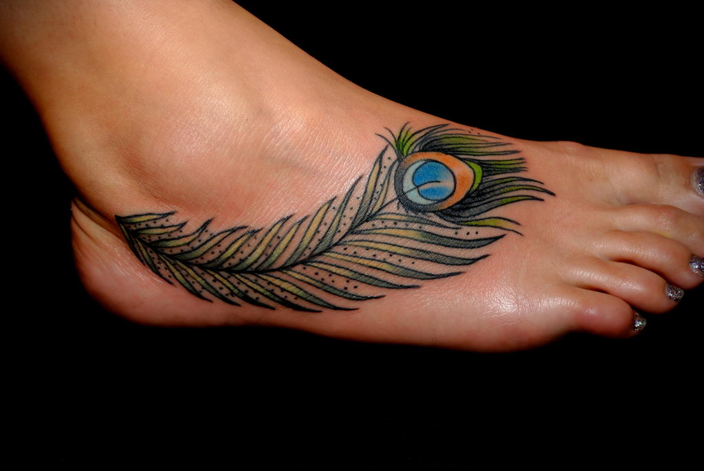 Фото тату про любовь рисунок Перо 03.02.2020 №085 -tattoo feather- tatufoto.com