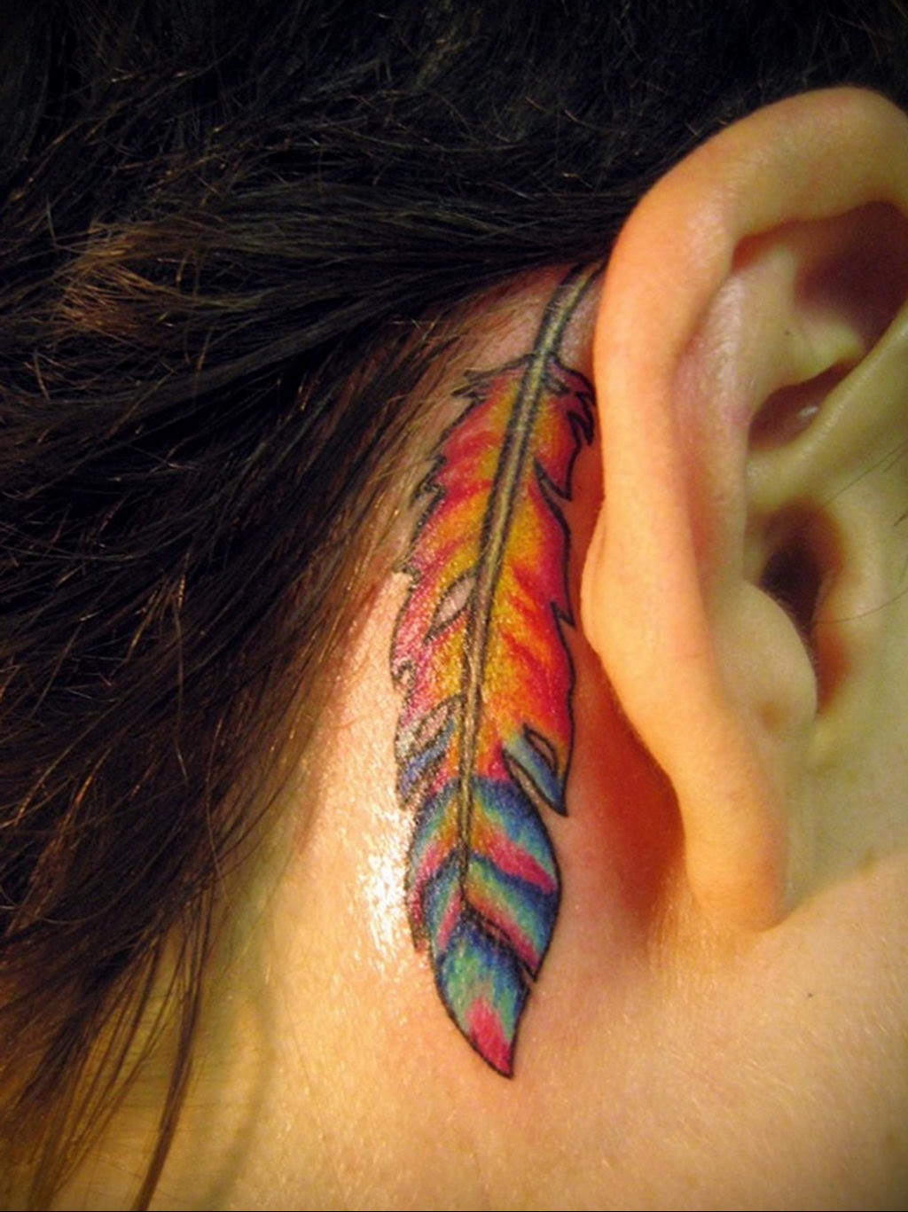 Фото тату про любовь рисунок Перо 03.02.2020 №169 -tattoo feather- tatufoto.com