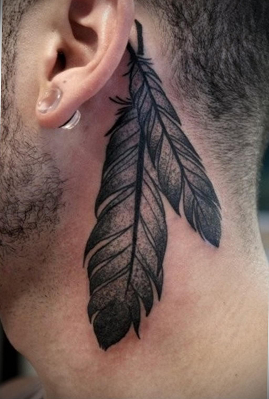 Фото тату про любовь рисунок Перо 03.02.2020 №176 -tattoo feather- tatufoto.com