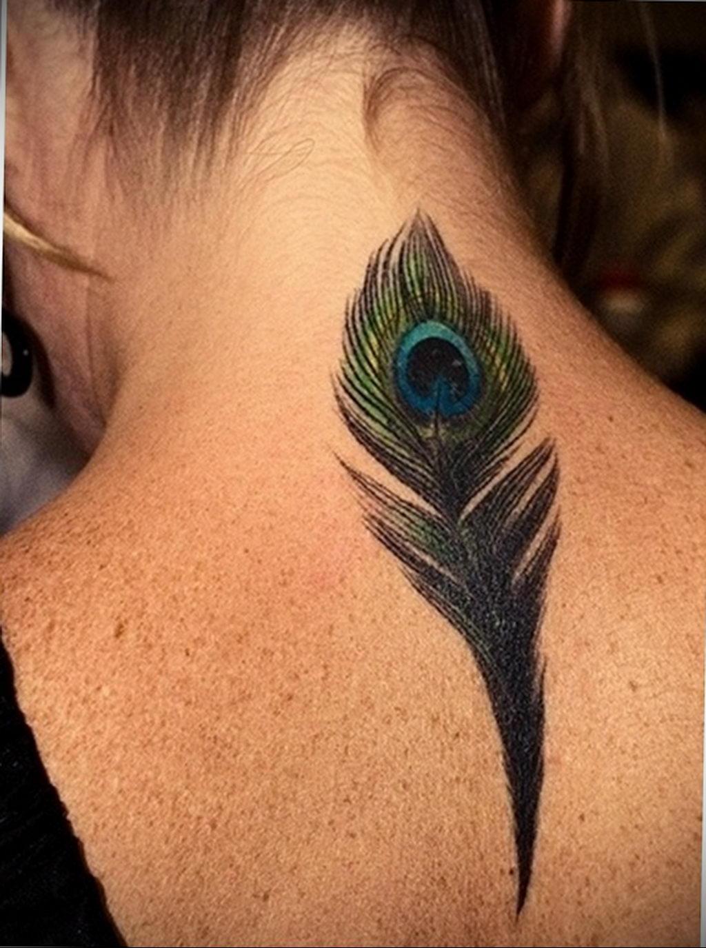 Фото тату про любовь рисунок Перо 03.02.2020 №178 -tattoo feather- tatufoto.com