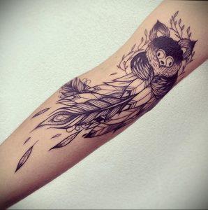 Фото тату про любовь рисунок Перо 03.02.2020 №191 -tattoo feather- tatufoto.com