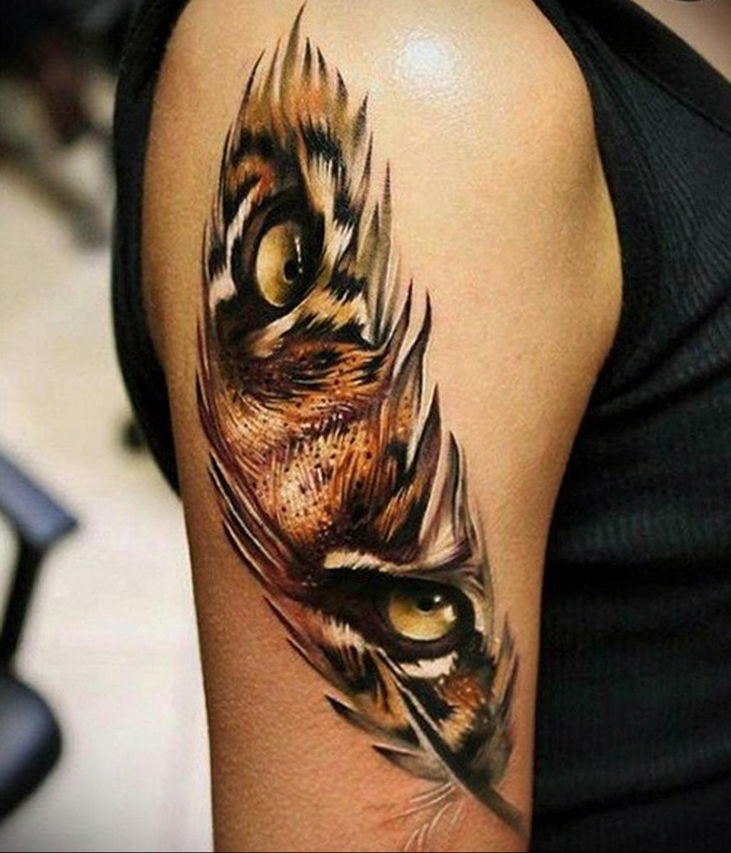 Фото тату про любовь рисунок Перо 03.02.2020 №231 -tattoo feather- tatufoto.com