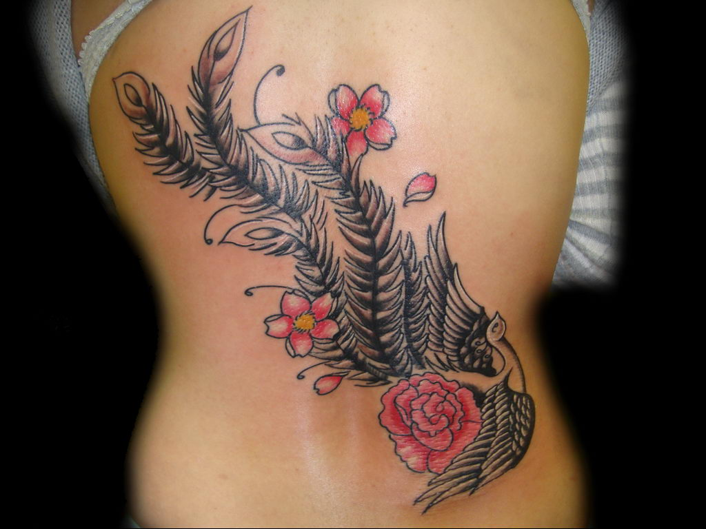 Фото тату про любовь рисунок Перо 03.02.2020 №243 -tattoo feather- tatufoto.com