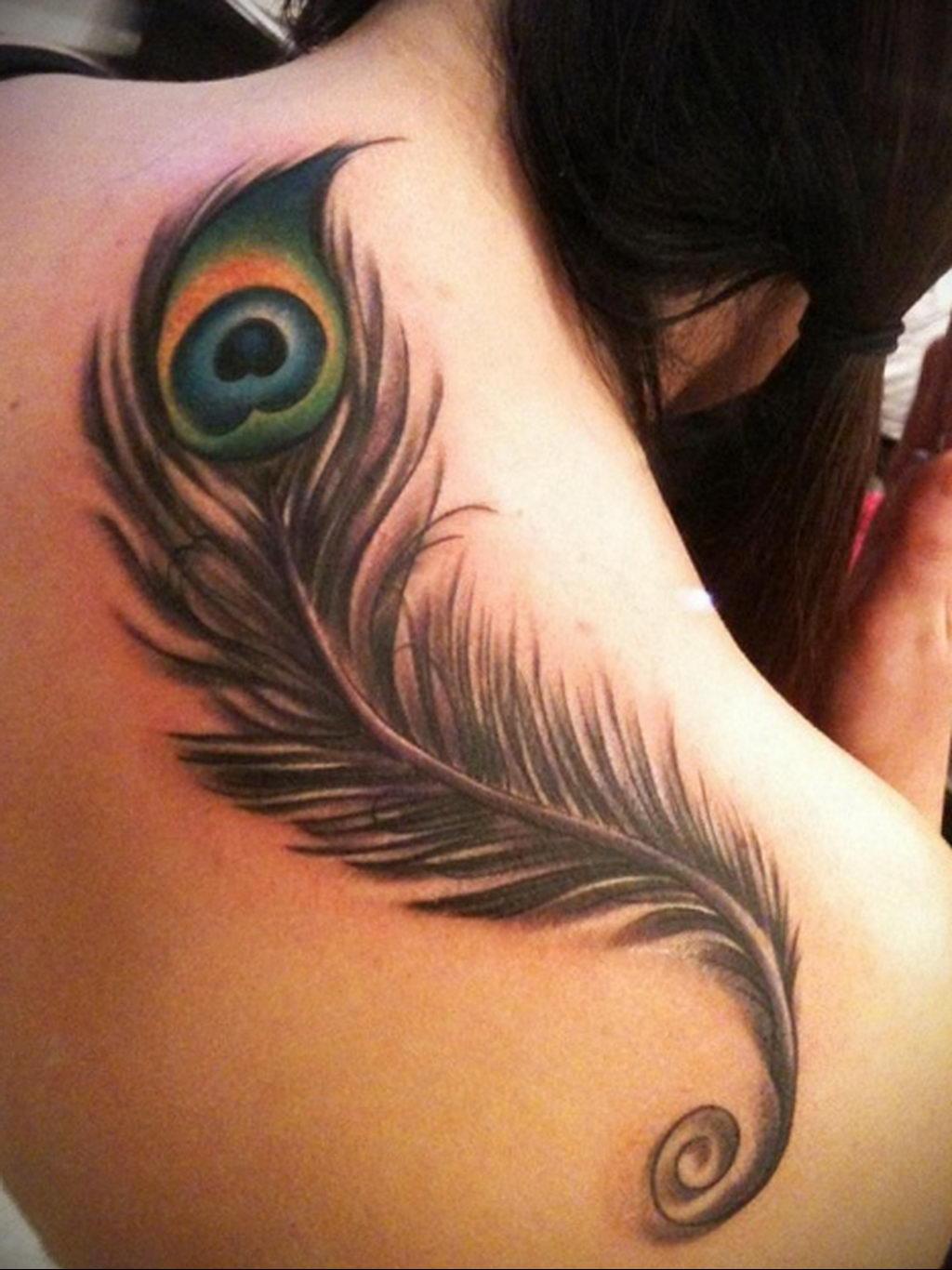Фото тату про любовь рисунок Перо 03.02.2020 №246 -tattoo feather- tatufoto.com