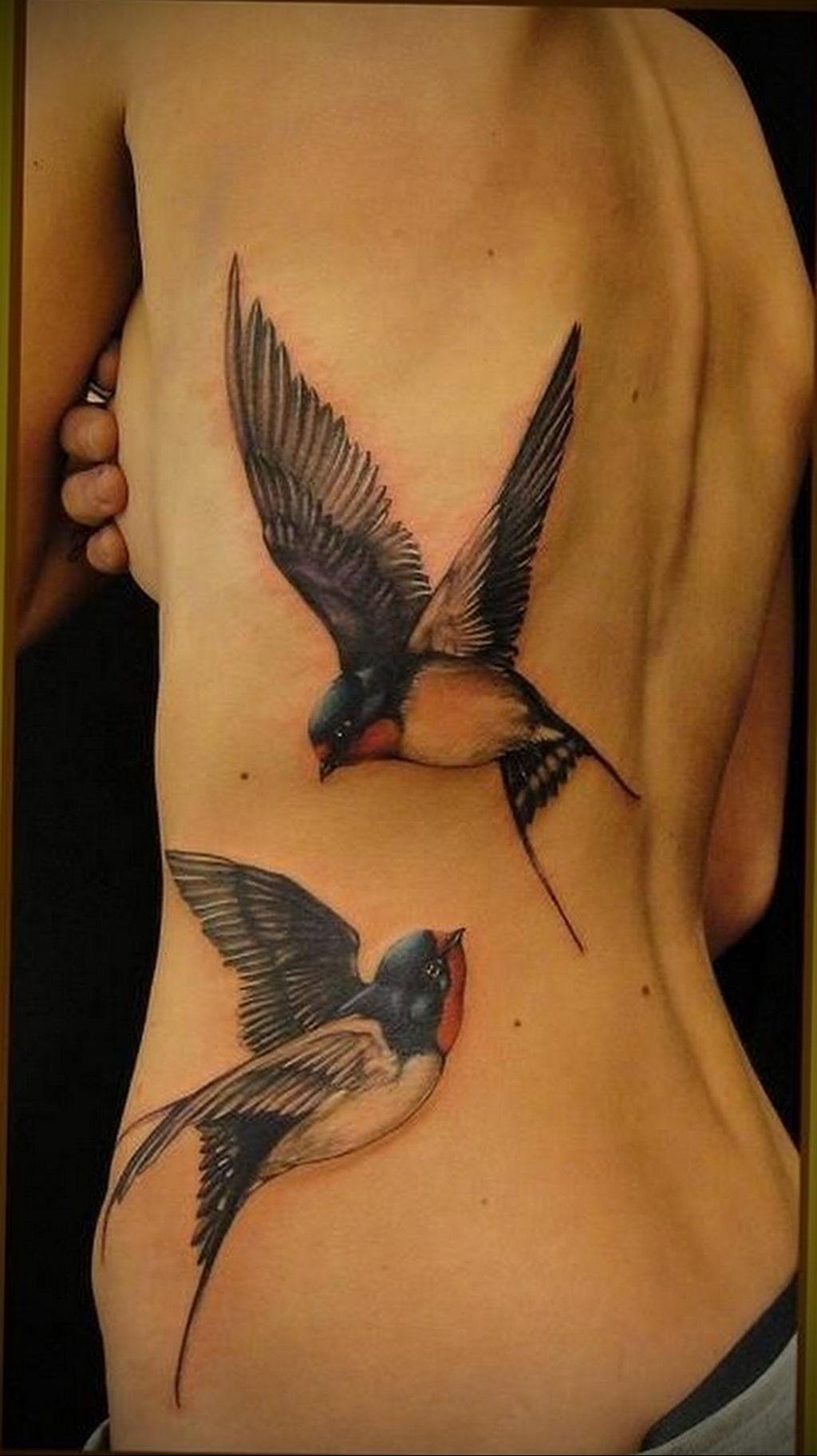 Фото тату про любовь рисунок Птица 03.02.2020 №019 -bird tattoo- tatufoto.com