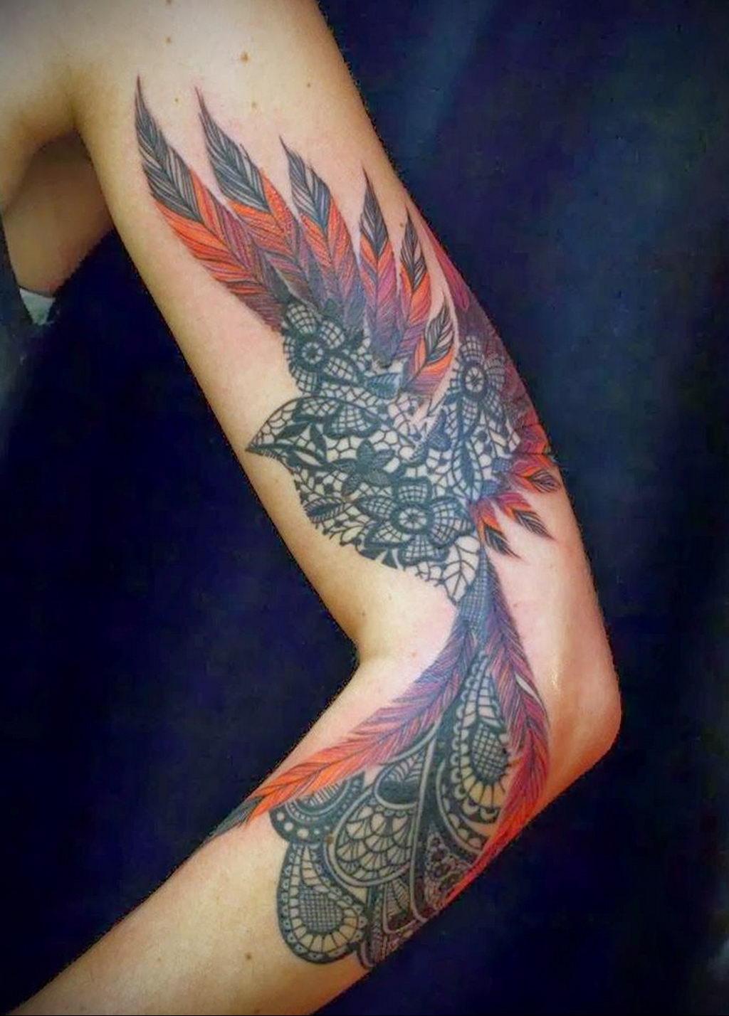 Фото тату про любовь рисунок Птица 03.02.2020 №091 -bird tattoo- tatufoto.com