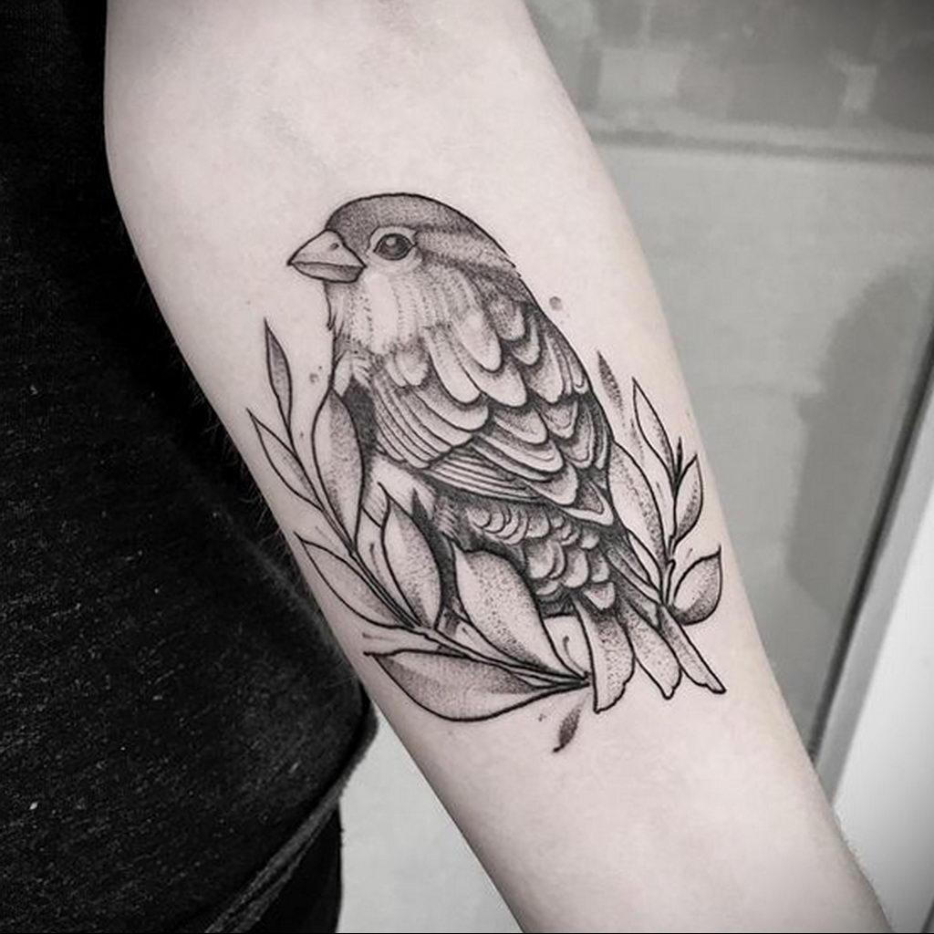 Фото тату про любовь рисунок Птица 03.02.2020 №093 -bird tattoo- tatufoto.com