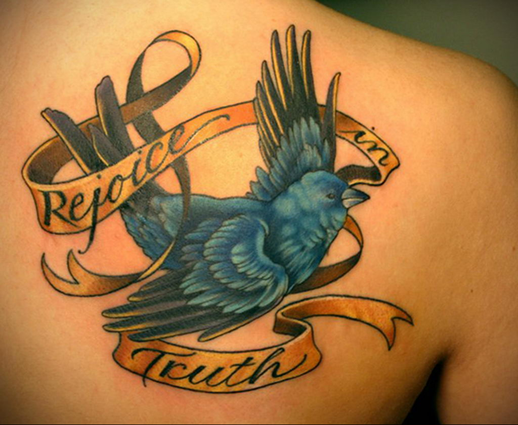 Фото тату про любовь рисунок Птица 03.02.2020 №094 -bird tattoo- tatufoto.com