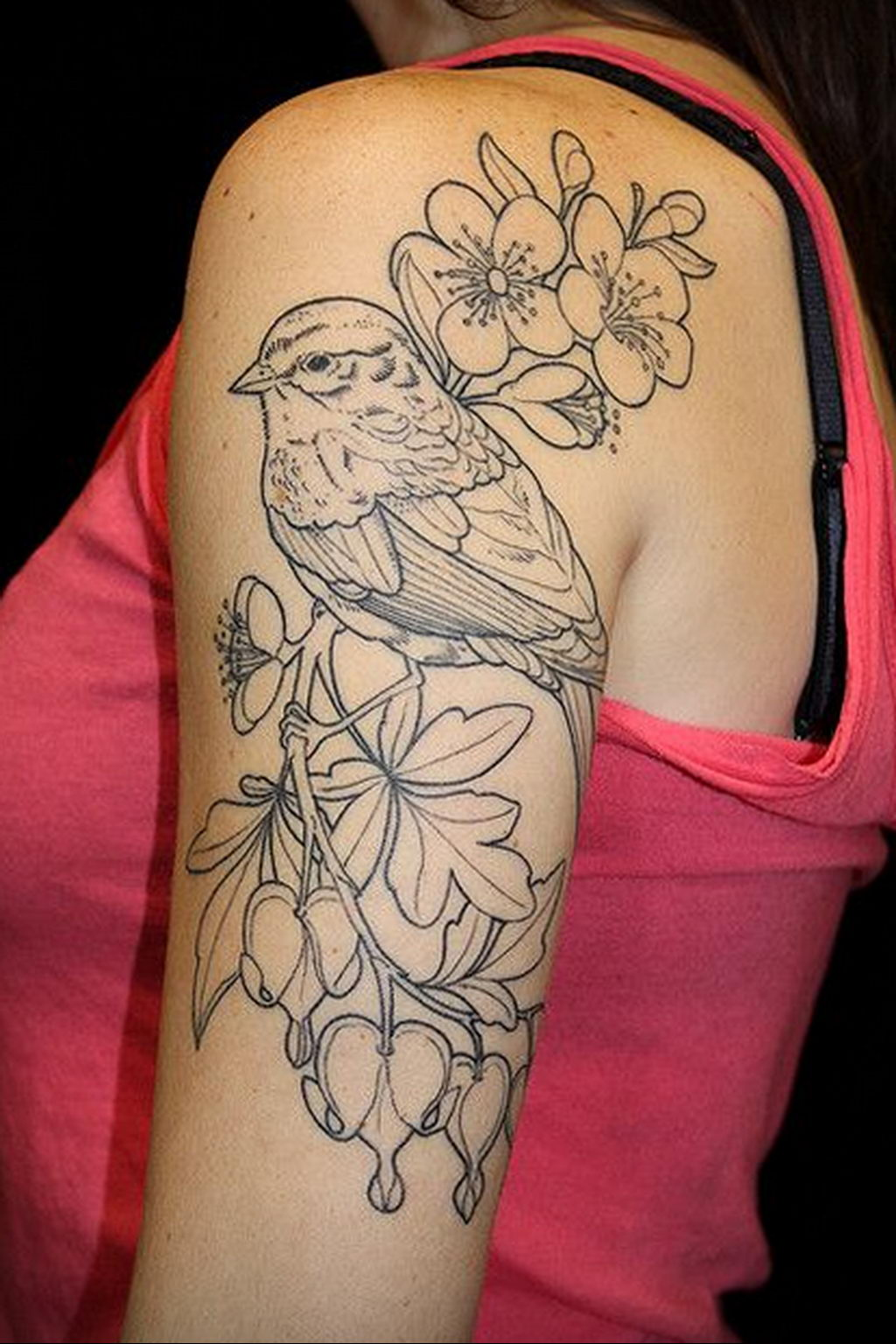 Фото тату про любовь рисунок Птица 03.02.2020 №110 -bird tattoo- tatufoto.com
